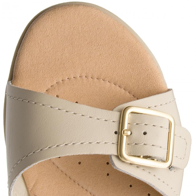 Spring Primrose 261319374 Leather Sandales 2018 Et summer Clarks Bay White Femme Decontractees Mules vYbf76gy
