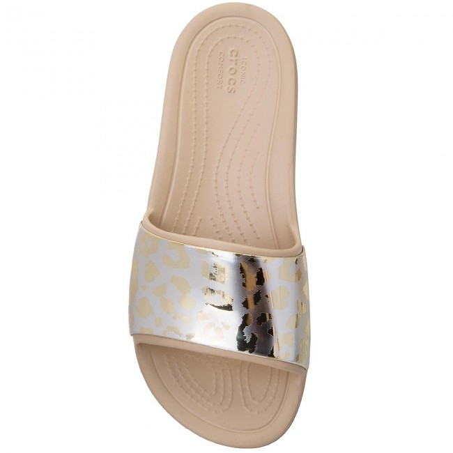 Slide 205133 Gold Chaussures Sloane Basses Crocs gold Metallic Grph W gY7b6fy