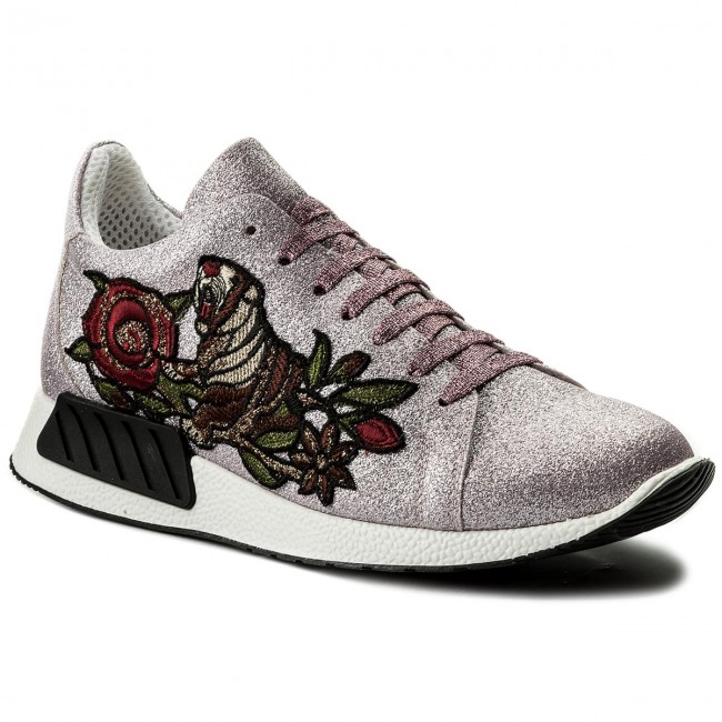 Hego's Basses Milano 1006 Femme mezza Chaussures summer Sneakers Spring 2018 Pink Tigre Glitter Fine dtCQrsh