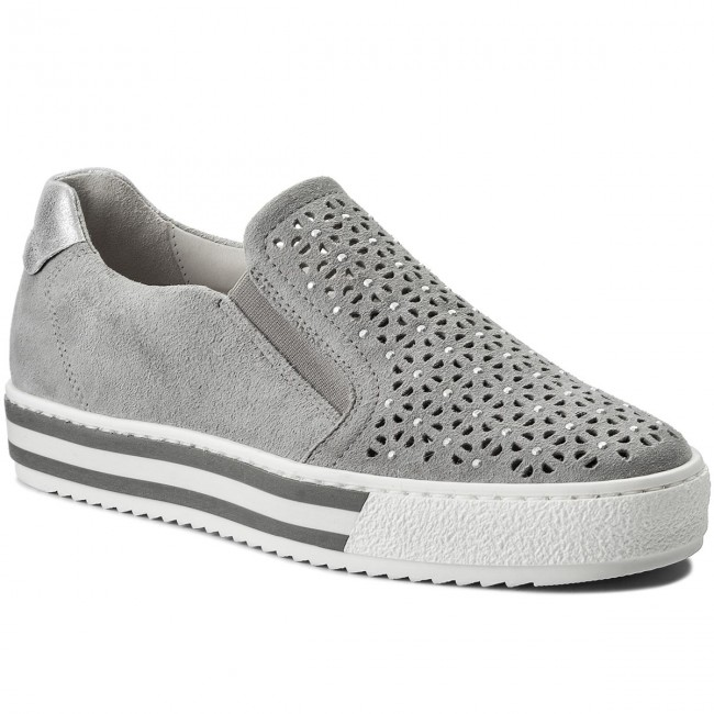 Chaussures basses GABOR - 86.502.41 LtGris    - Plates - Chaussures basses - Femme 4a8ad9