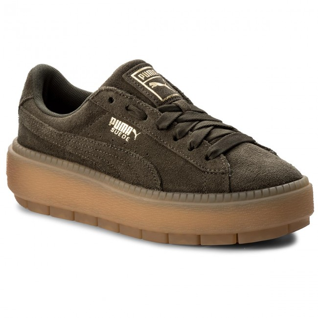 summer 365830 Trace Night Basses Olive Sneakers Puma Chaussures 2018 Femme Platform q1 Wn's 03 Spring CrtshQxd