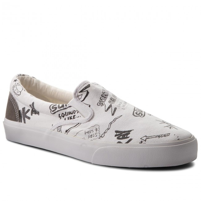 Tennis PEPE JEANS - Harry Slip - On PMS30424 White 800 - Slip Baskets - Chaussures basses - Homme b3b1d2