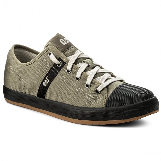 P722230 Homme summer Chaussures Canvas Basses Caterpillar Baskets Checklist Spring 2019 Sneakers Olive AL3RqS5c4j