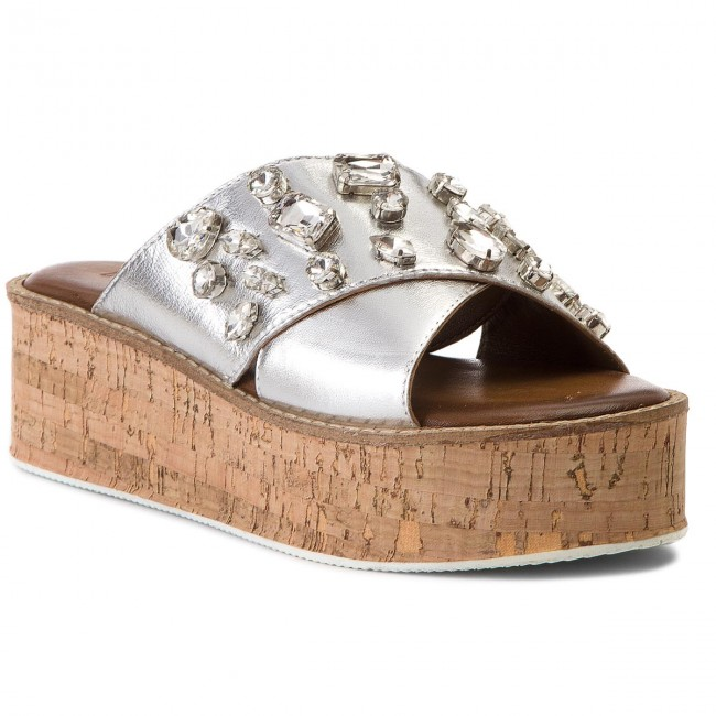 De 8018 Spring Silver 2018 Inuovo Decontractees MulesSandales Et summer Bain Femme rCtsQdxBoh
