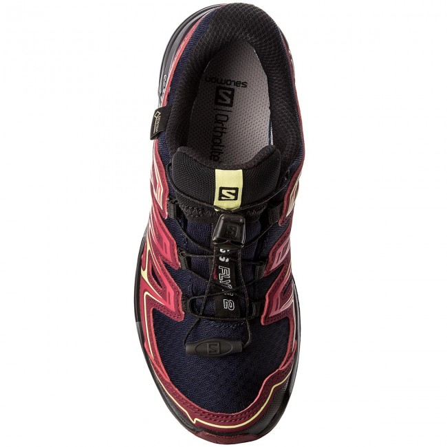 Chaussures SALOMON Wings Flyte 2 Gtx GORE TEX 399714 20 W0 Evening BlueBeet RedSunny Lime