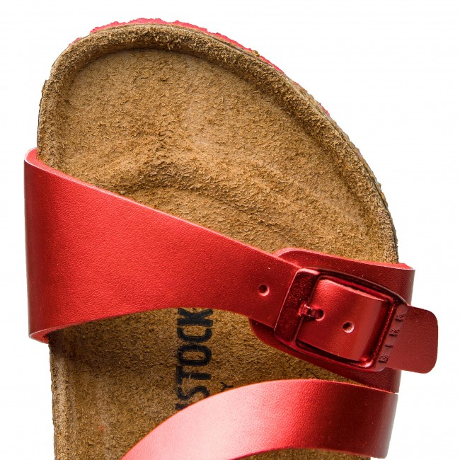 Fall De Fille 1010412 Et Kids MulesSandales Soft Metallic winter Birkenstock Enfant Red Salina 2018 Bain SVzMUqp