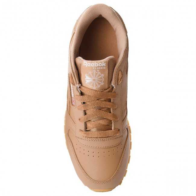 Classic Chaussures Cn5610 white Leather Camel Reebok Soft 8PXwO0kn