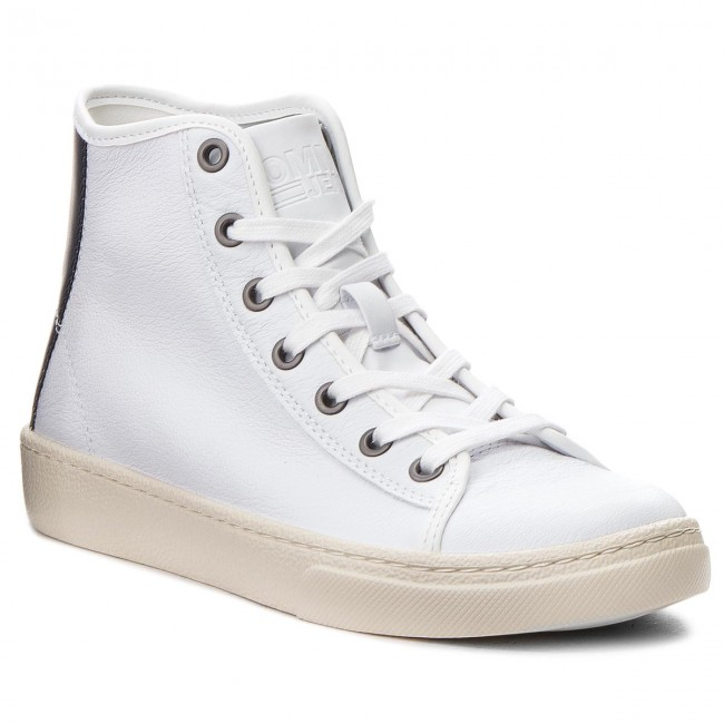 En0en00231 Sneakers Mid Leather White Tommy Light Jeans 100 H9DWE2I