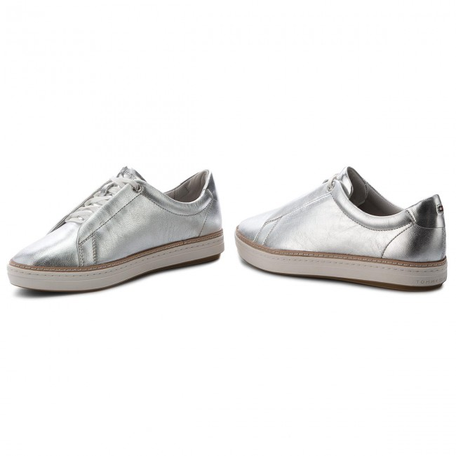 City Silver Metallic Tommy Fw0fw03359 Sneakers Hilfiger Sneaker 000 sdCxhQrt