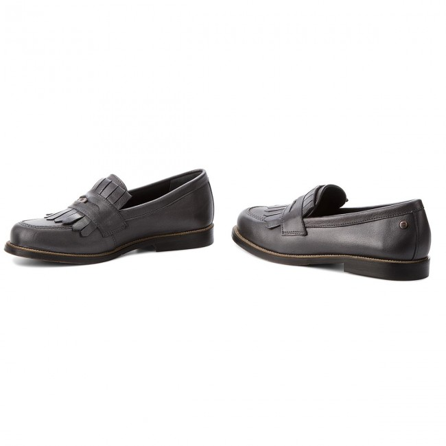 Chaussures Metallic Basses Silver Loafer Tommy Penny Leather Fw0fw03402 Dark Hilfiger 015 YvI7ybfmg6