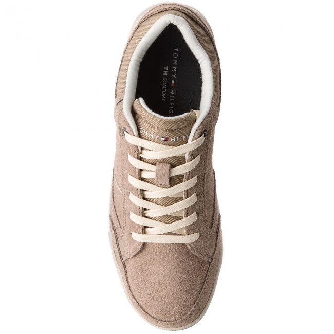 Sneakers Fm0fm01622 Hilfiger Suede Taupe Corporate Sneaker 255 Tommy Detail uTZiOPkX