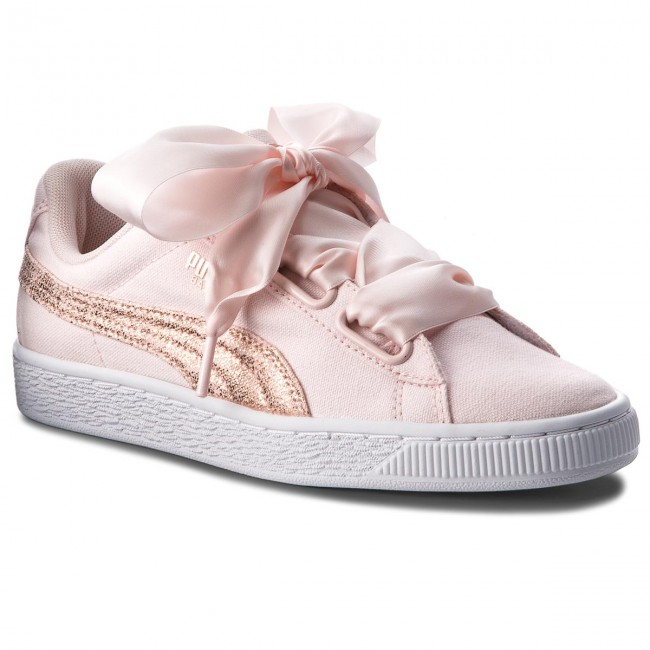 Chaussures puma rose Spring Basket Sneakers 366495 Basses q2 Puma Gold summer Femme Canvas 02 2018 White Heart Pearl f7yYvgIb6