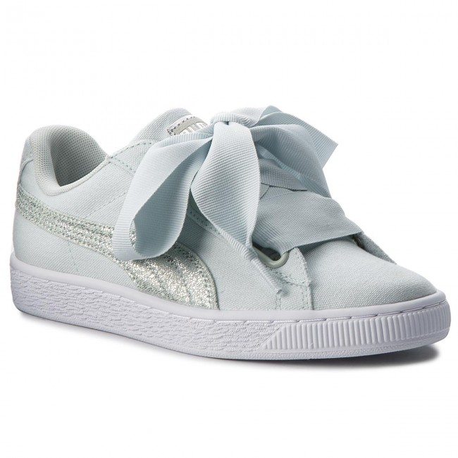 Flowerwhite Sneakers 366495 Blue 03 Heart Canvas Basket Puma pxqTrp0
