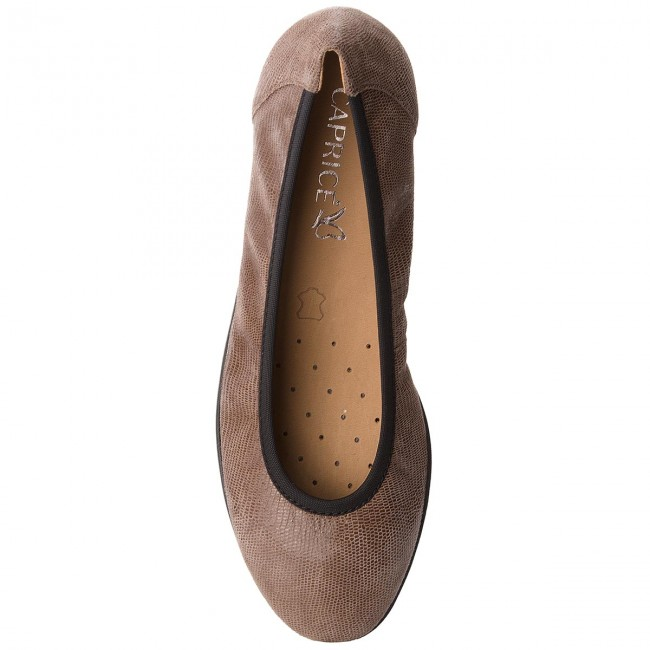 Femme Taupe 9 346 Ballerines Reptile Basses winter 21 Caprice 22150 Chaussures Fall 2018 xerdCBoW