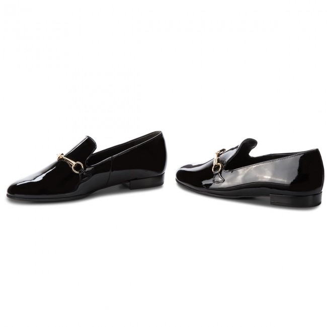 2018 101224 Black winter Loafers Fall H gl Chaussures 6 Basses 0100 Femme ZPkiXu