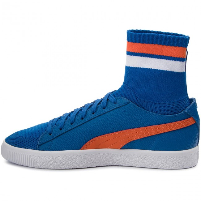 Clyde Sock Nyc puma Homme Sneakers 364948 slbis White Fall Chaussures Puma winter Basses 2017 03 Lblue A3j54RL
