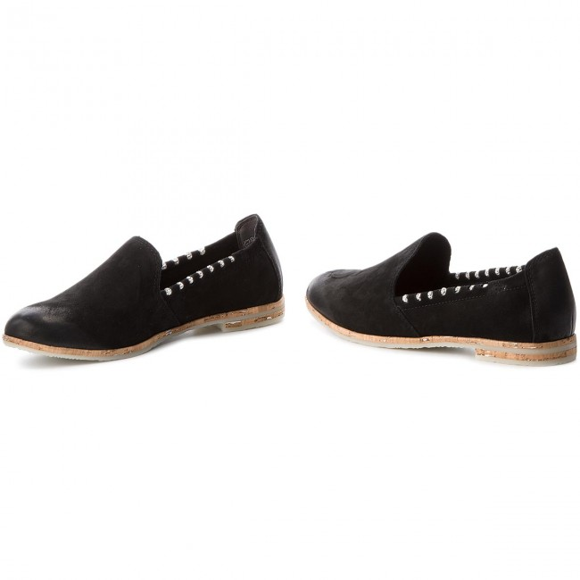2 20 Marco Tozzi Black Spring 2018 Loafers 24212 001 Femme summer Chaussures Basses Ybfg76y