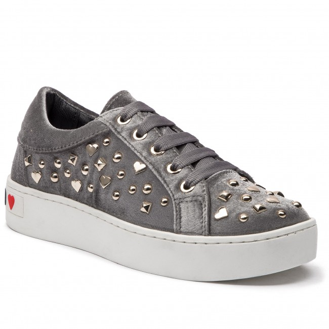 Moschino Femme Sneakers 2018 Grigio Ja15293g06jg0018 Chaussures Fall Basses winter Love TF3lK1Jc