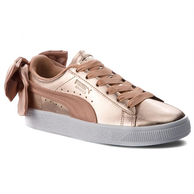 newest ee7f5 4b9d9 Sneakers PUMA - Basket Bow Luxe Wn s 367851 01 Dusty Coral Puma White