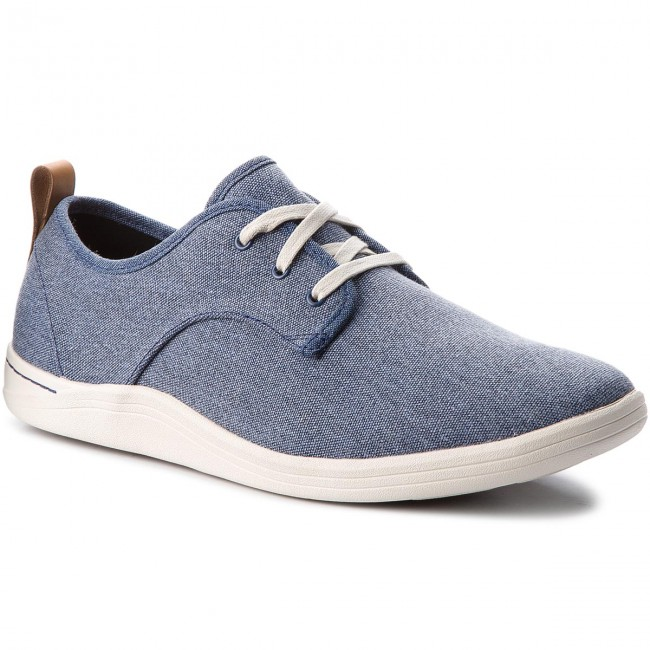 Mapped 261322767 Basses Blue Clarks Mix Fabric Chaussures uTkXiOZP