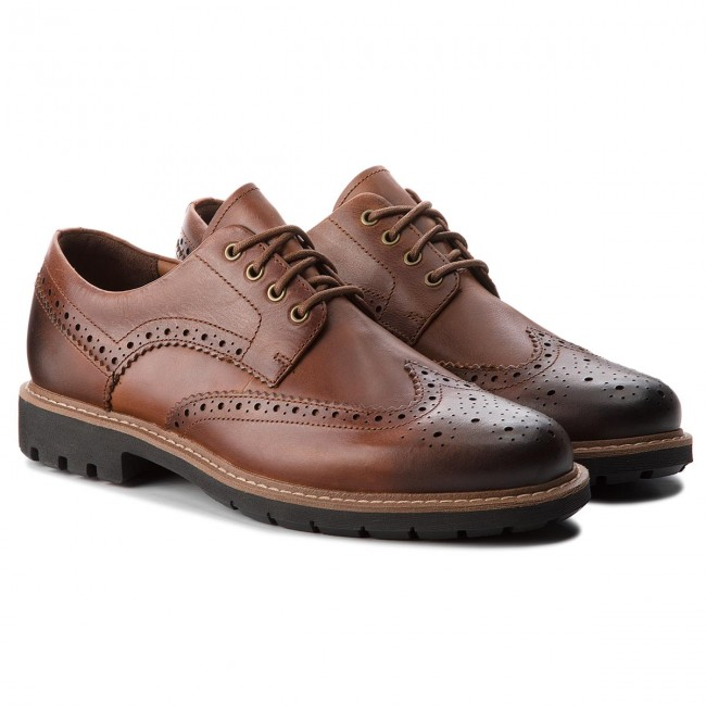 Wing Dark Chaussures Clarks Leather Batcombe Basses Tan 261271917 wqtznaP8t