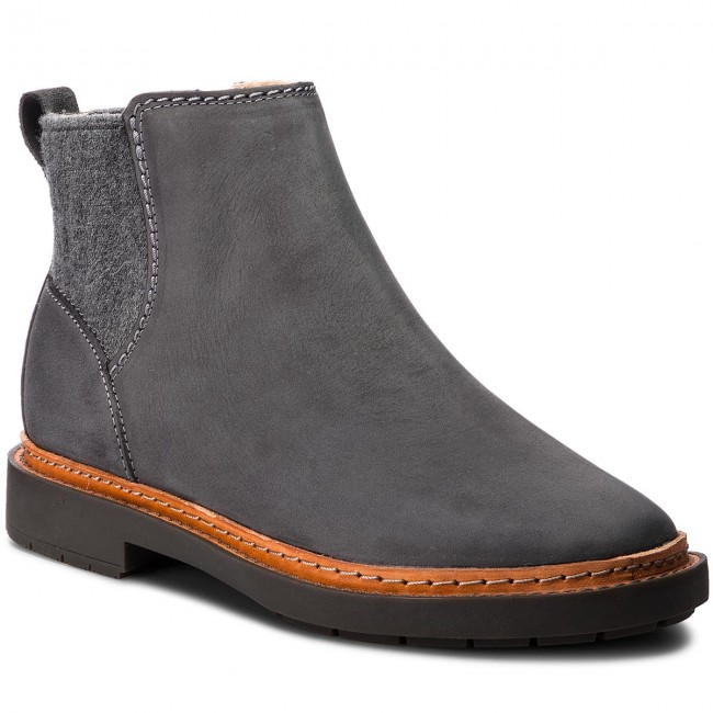 Bottines 261351404 Dark Et Grey Femme 2018 Chelsea Trace Combi Fall winter Bottes Autres Fall Clarks qMpVzUS