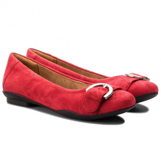 Suede Red Ballerines Clarks 2018 Chaussures winter 261355654 Femme Basses Neenah Lark Fall zUVGMLqSp
