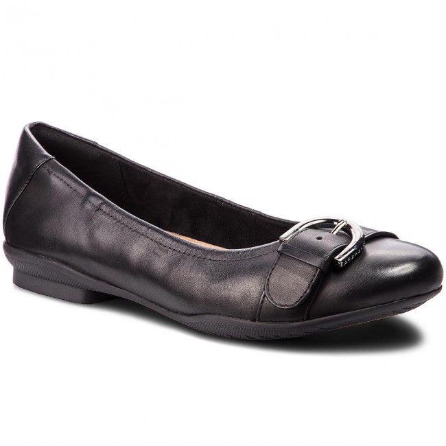 be0430431edb8f Ballerines CLARKS - Neenah Lark 261356474 Black Leather - Plates ...