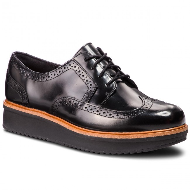 Clarks Derbies 261363544 amp; Richelieus Black Teadale Leather Maira TEw1x5qRxP