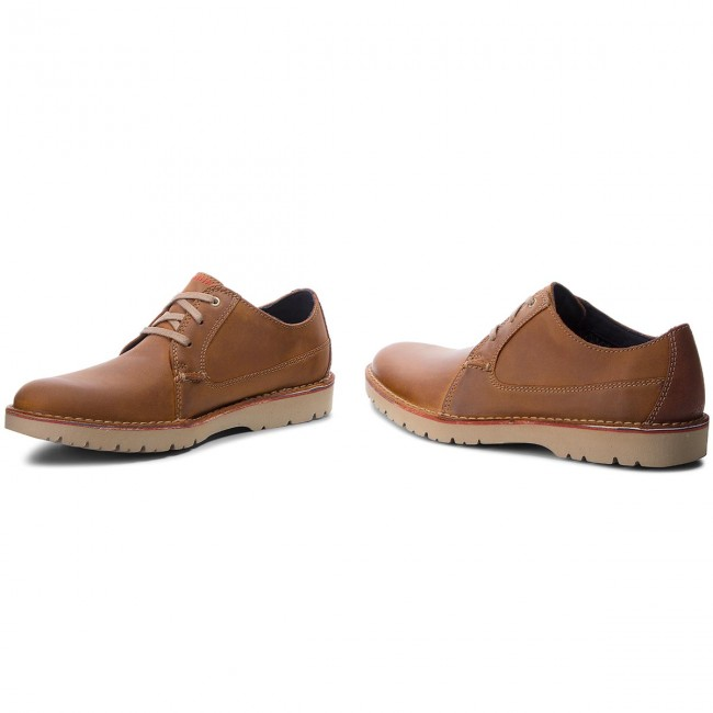 Chaussures Lace Basses ClarksAtticus 261318247 Tan Leather CordBexW