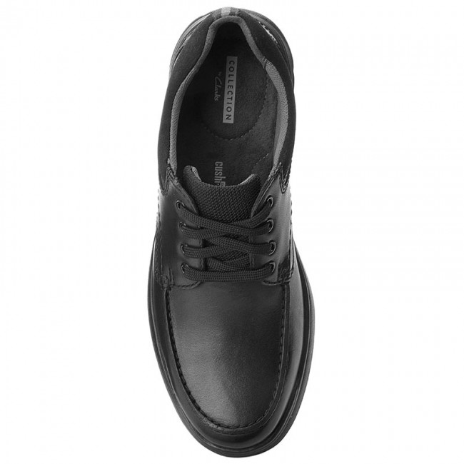 Chaussures basses CLARKS - Cotrell Edge 261373857  - Blk Smooth Leather  -  Détente - Chaussures basses - Homme 0b9fc0
