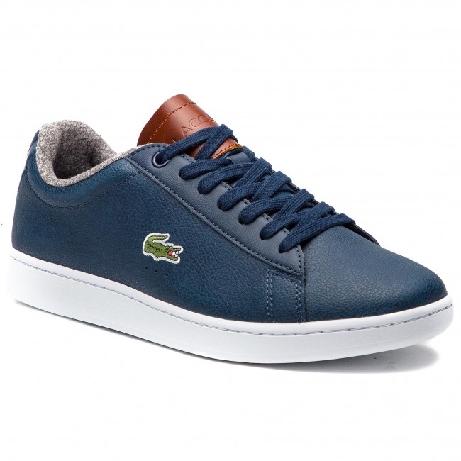 4683a3a2dc5 Sneakers LACOSTE - Carnaby Evo 318 2 Spm 7-36SPM00102Q8 Nvy Brw ...