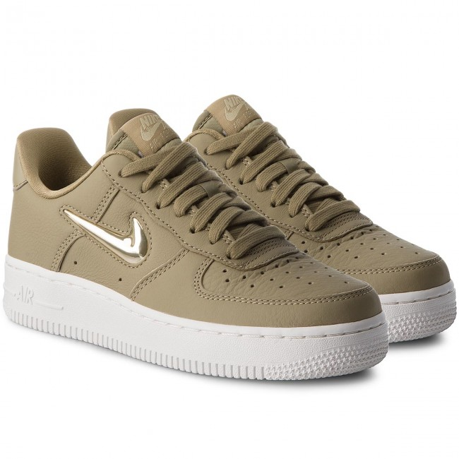 Chaussures NIKE Air Force 1 '07 Prm Lx AO3814 200 Neutral OliveMtlc Gold Star