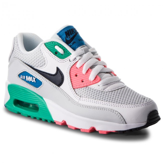 new style 066fc 01596 Chaussures NIKE - Air Max 90 Mesh (GS) 833418 112 White Obsidian