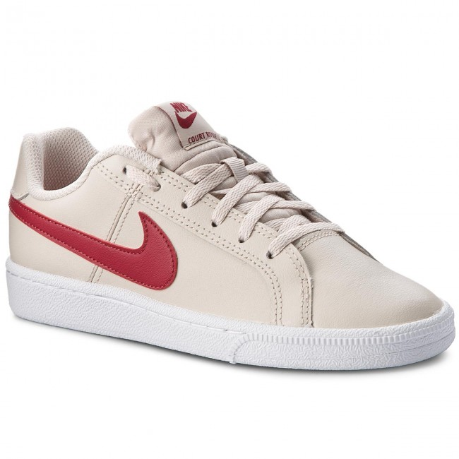 35a0f40f5306 Chaussures NIKE. Court Royale (GS) 833654 008 Desert Sand Red Crush White