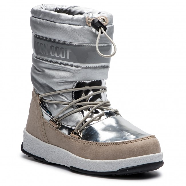1fc2cff0d9e6c Bottes de neige MOON BOOT - W.E. Jr Girl Soft Wp 34051700003 Silver ...