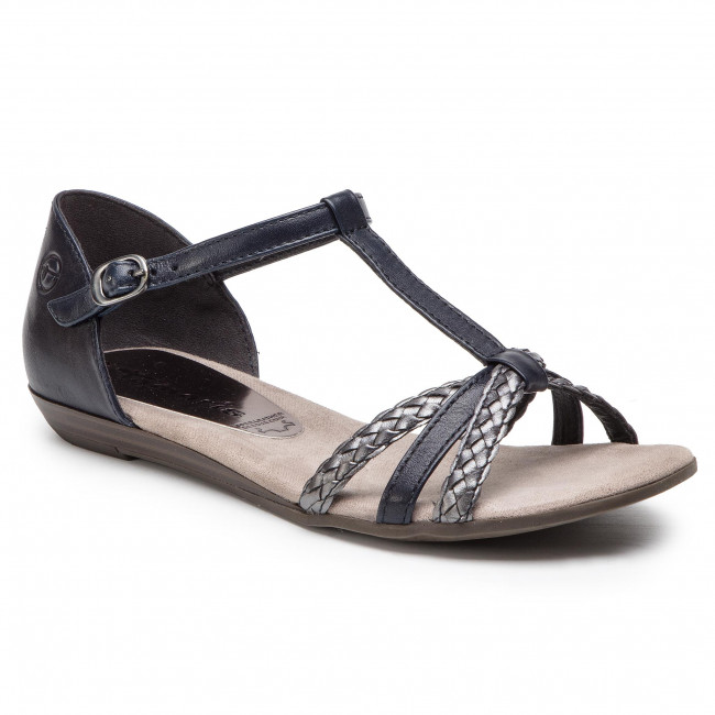 summer 22 Spring Navy pewter 1 28137 Tamaris 2019 Femme Sandales Decontractees 829 Et Mules vN80mnOyw