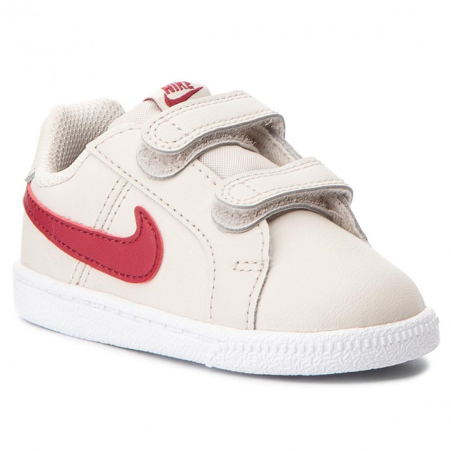 purchase cheap 6d55a eb153 Chaussures NIKE - Court Royale (TDV) 833656 008 Desert Sand Red Crush