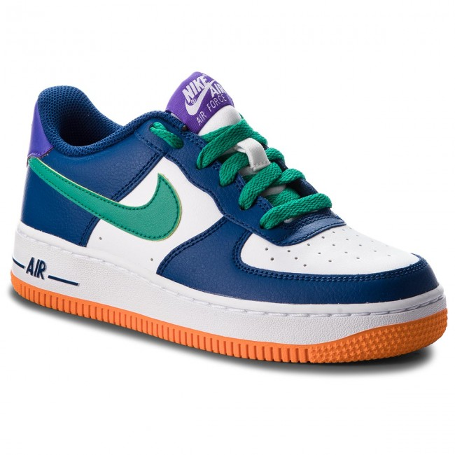 reputable site c4d2f aacb6 Chaussures NIKE - Air Force 1 (GS) 596728 407 Gym Blue Neptune Green