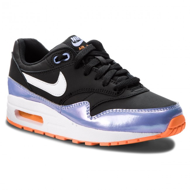 competitive price 08a64 f66fd Chaussures NIKE - Air Max 1 (GS) 807605 003 Black White Twilight