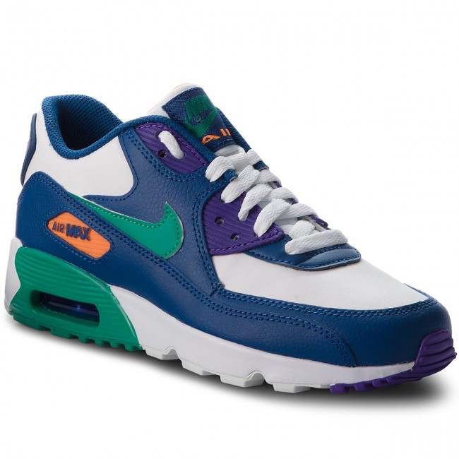 new product 29b47 626ef Chaussures NIKE - Air Max 90 Ltr (GS) 833412 410 Gym Blue Neptune