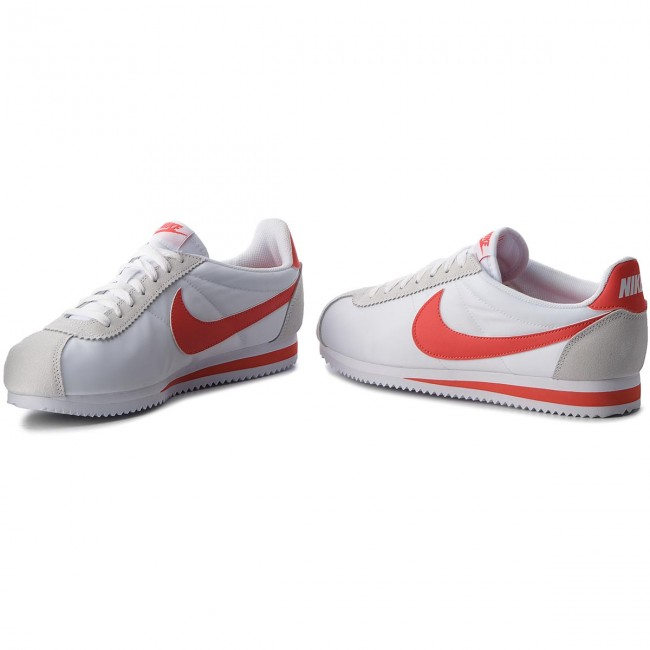 wholesale dealer 71135 506fb Chaussures NIKE - Classic Cortez Nylon 807472 101 White Habanero Red