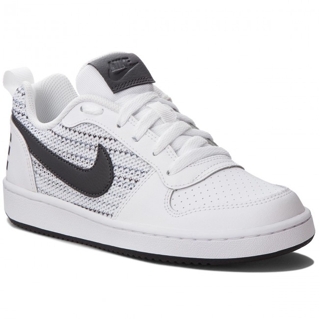 pretty nice e55d7 79553 Chaussures NIKE - Court Borough Low Se (GS) AA2902 100 White Anthracite