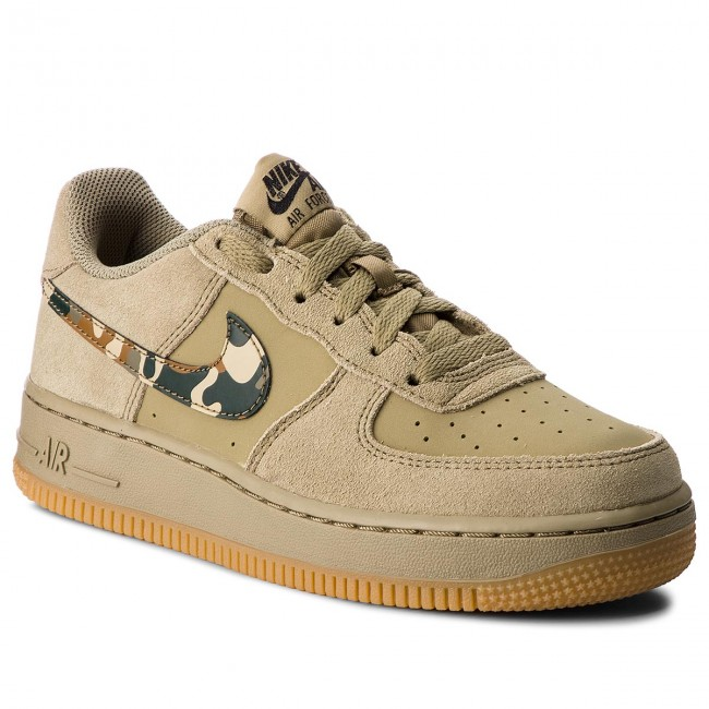 on sale 1b330 03e09 Chaussures NIKE - Air Force 1 (GS) 596728 202 Neutral Olive Black