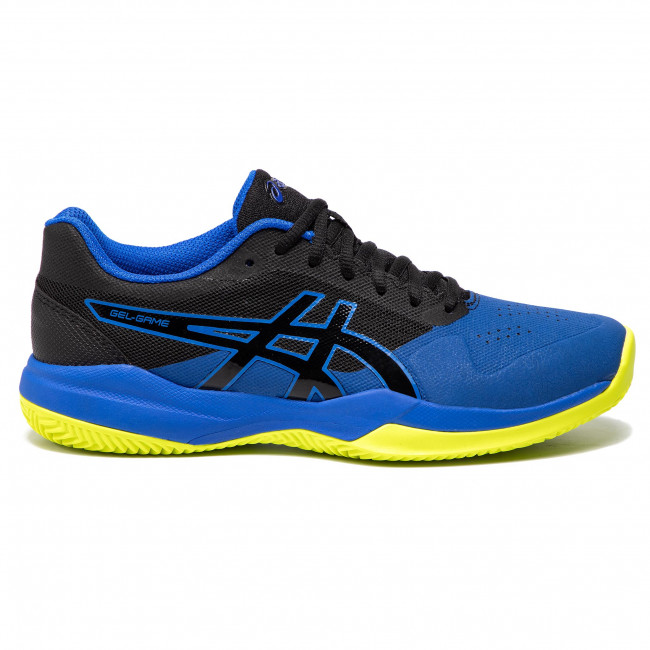1041a046 Gel Asics game Chaussures 7 illusion Blue 009 Black Clay oc PXZiuOk