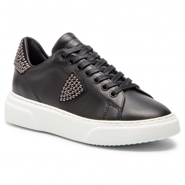Temple Model L Bgld Sd02 Sneakers Studs Philippe Noir Femme D bf67gYyv