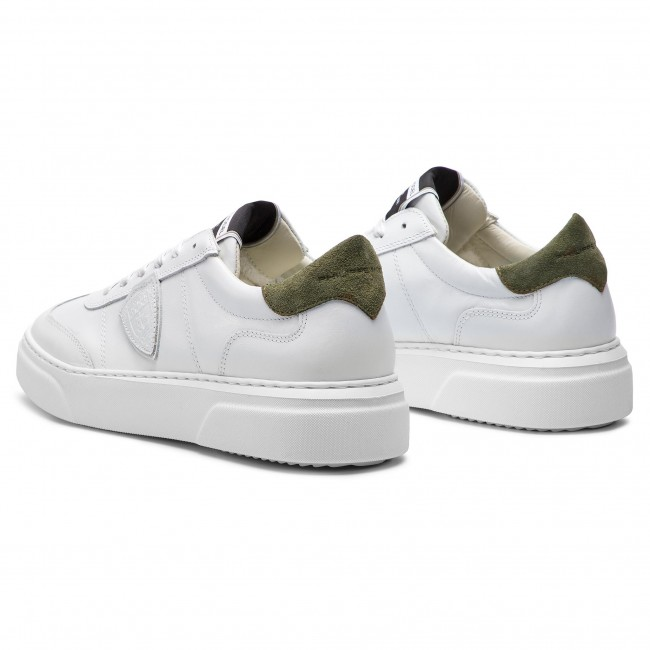 Blanc Balu V024 Militaire Philippe Sneakers Model Temple c354ARjqLS