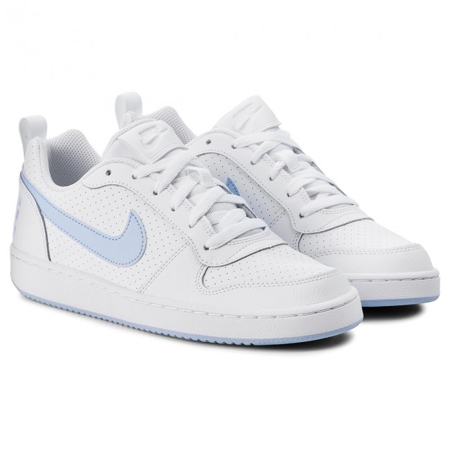 Chaussures NIKE Court Borough Low (GS) 845104 103 WhiteRoyal Tint