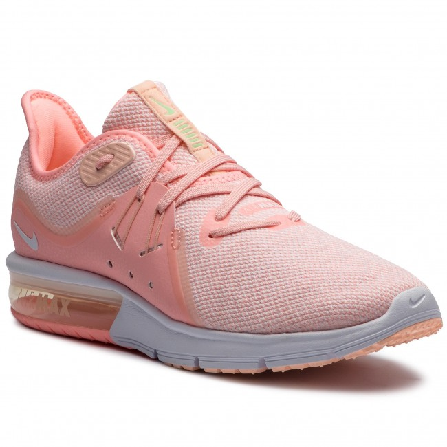 newest 5fb9d 551e5 Chaussures NIKE - Air Max Sequent 3 908993 603 Pink Tint White Crimson Tint