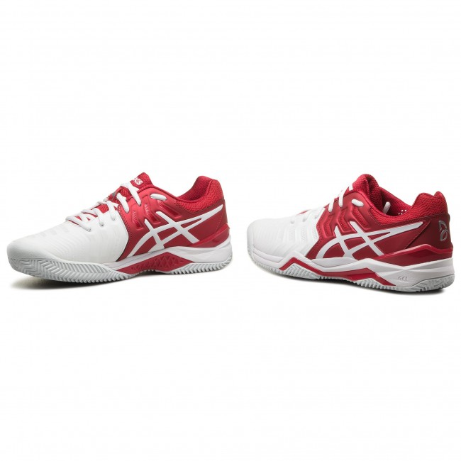 E806n Classic Chaussures Clay Redwhite Resolution Novak Asics Gel EDIH2W9Y